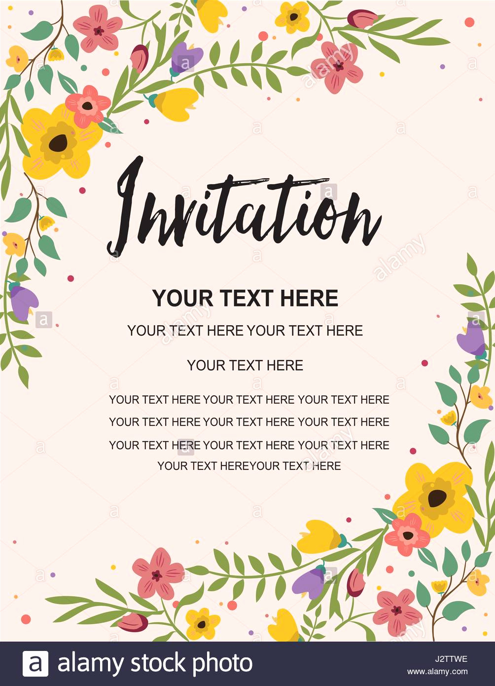 Birthday Invitation Card Template Awesome Anniversary Party Invitation Card Template Colorful