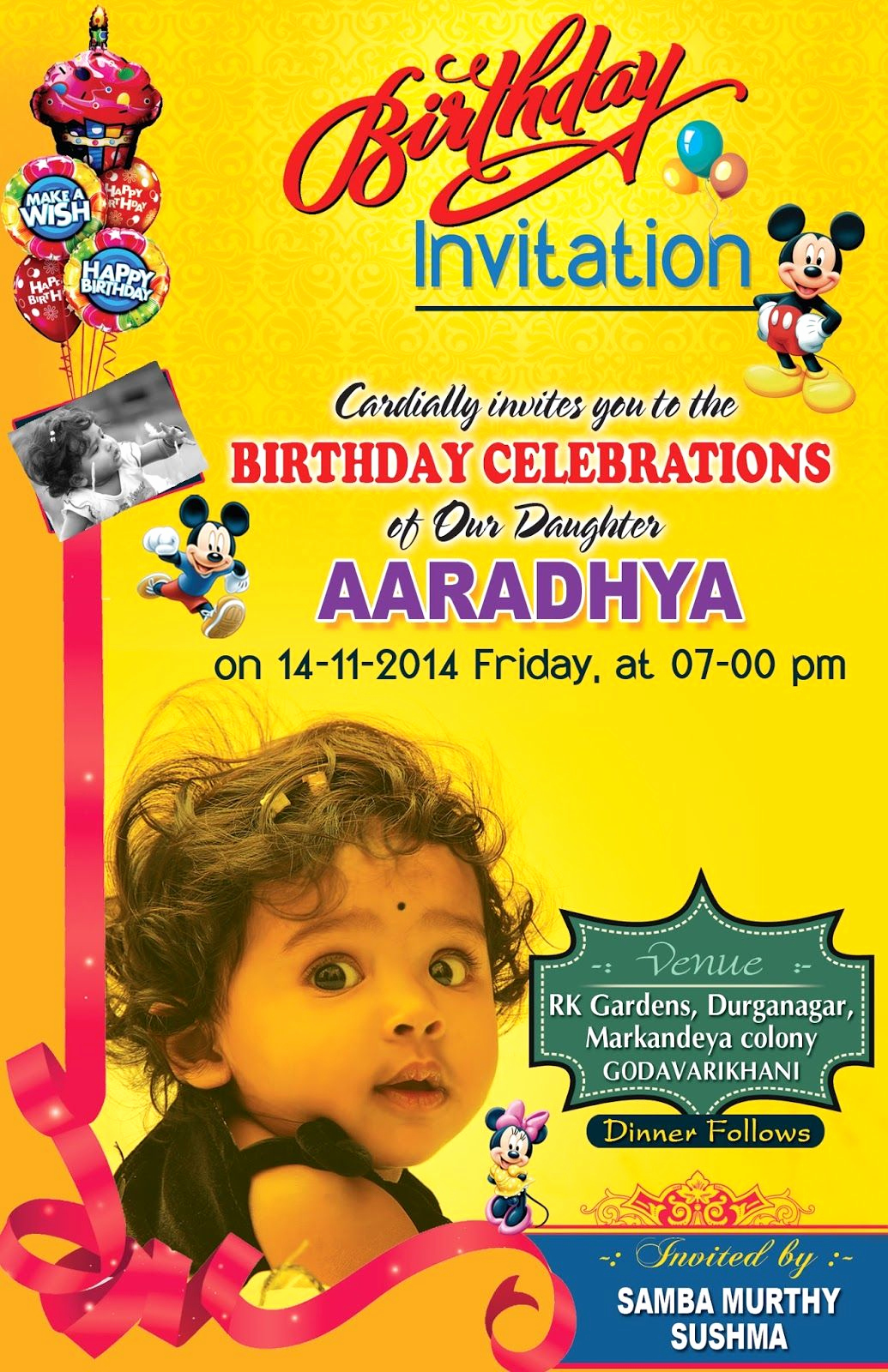 Birthday Invitation Card Template Fresh Birthday Invitation Card Psd Template Free