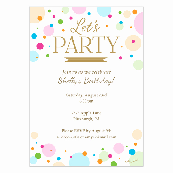Birthday Invitation Card Template Fresh Let S Party Invitation Invitations & Cards On Pingg