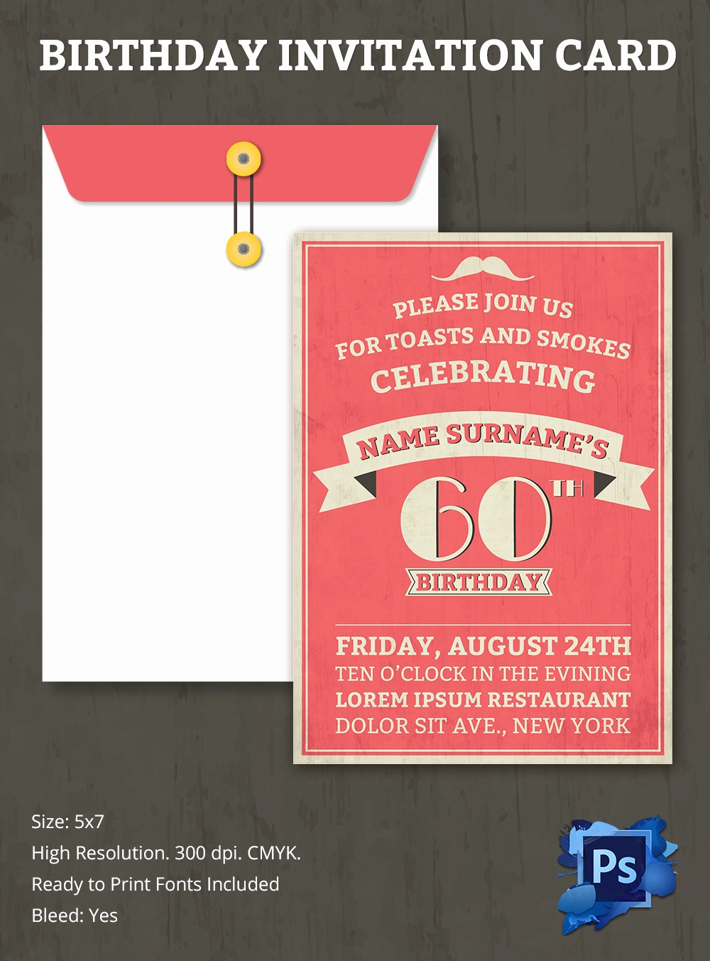 Birthday Invitation Card Template Luxury Birthday Invitation Template – 70 Free Psd format
