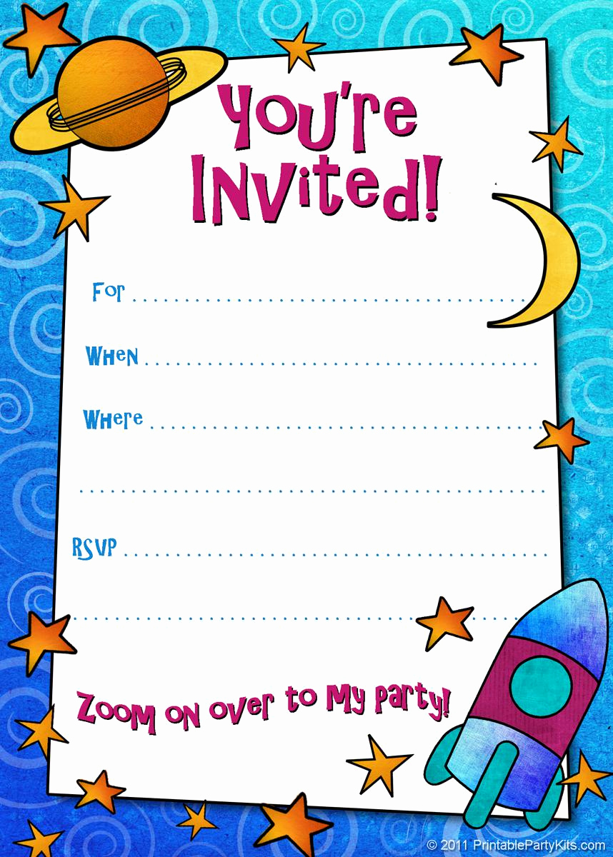 Birthday Invitation Card Template Unique 18 Birthday Invitations for Kids – Free Sample Templates