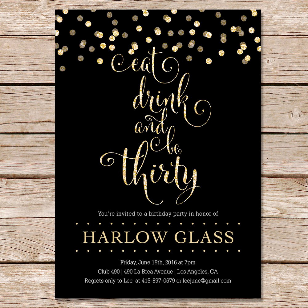 Birthday Invitation Ideas for Adults Beautiful 30th Birthday Invitation Cards