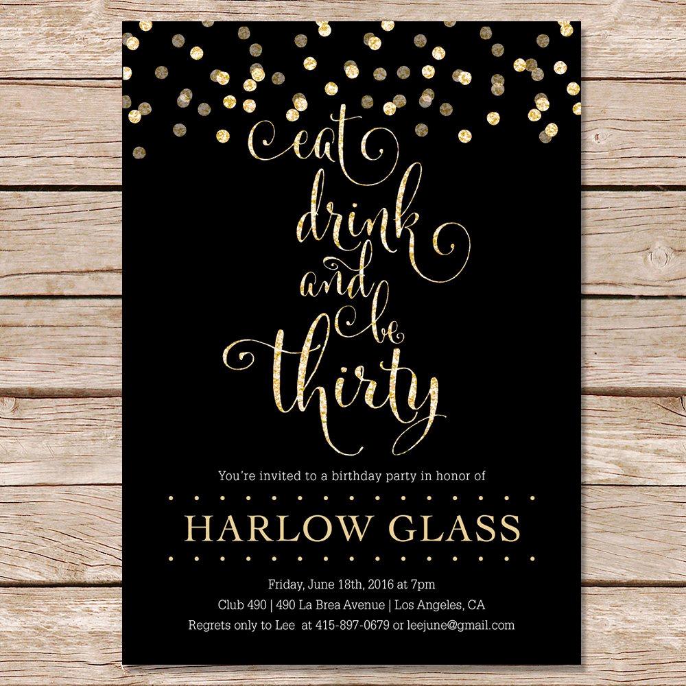 Birthday Invitation Ideas for Adults Beautiful 30th Birthday Invitation Cards