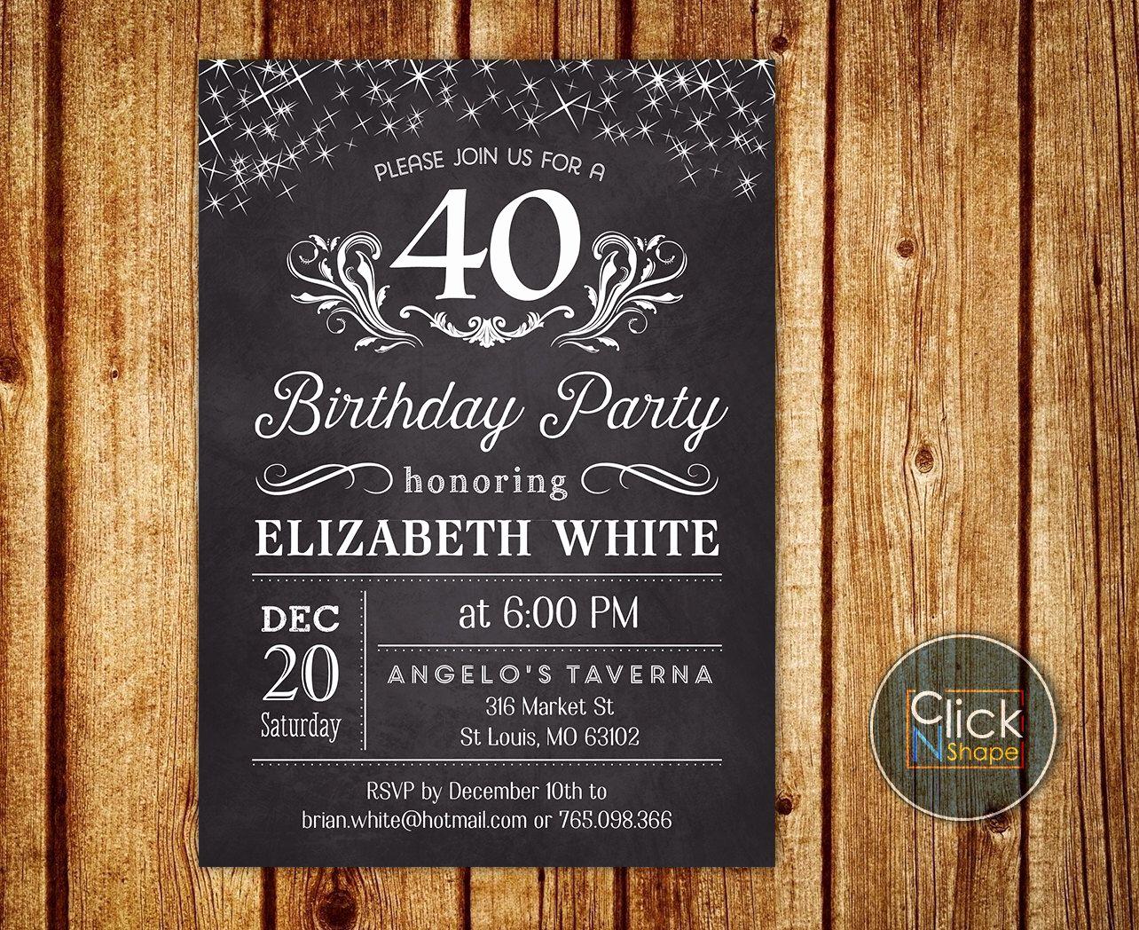 Birthday Invitation Ideas for Adults Beautiful Adult Birthday Invitation Invitation for Women