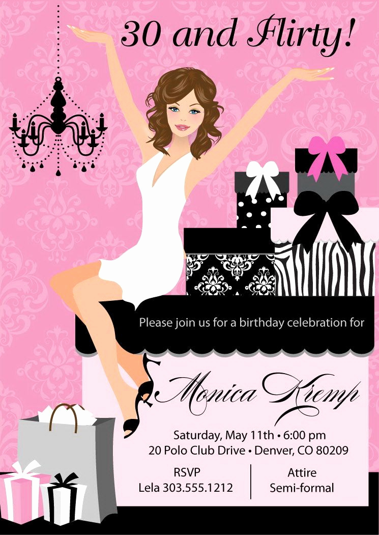 Birthday Invitation Ideas for Adults Best Of 30 and Flirty Birthday Invitations Adult by