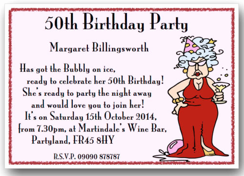 Birthday Invitation Message for Adults Elegant Funny 50th Birthday Party Invitation Wording