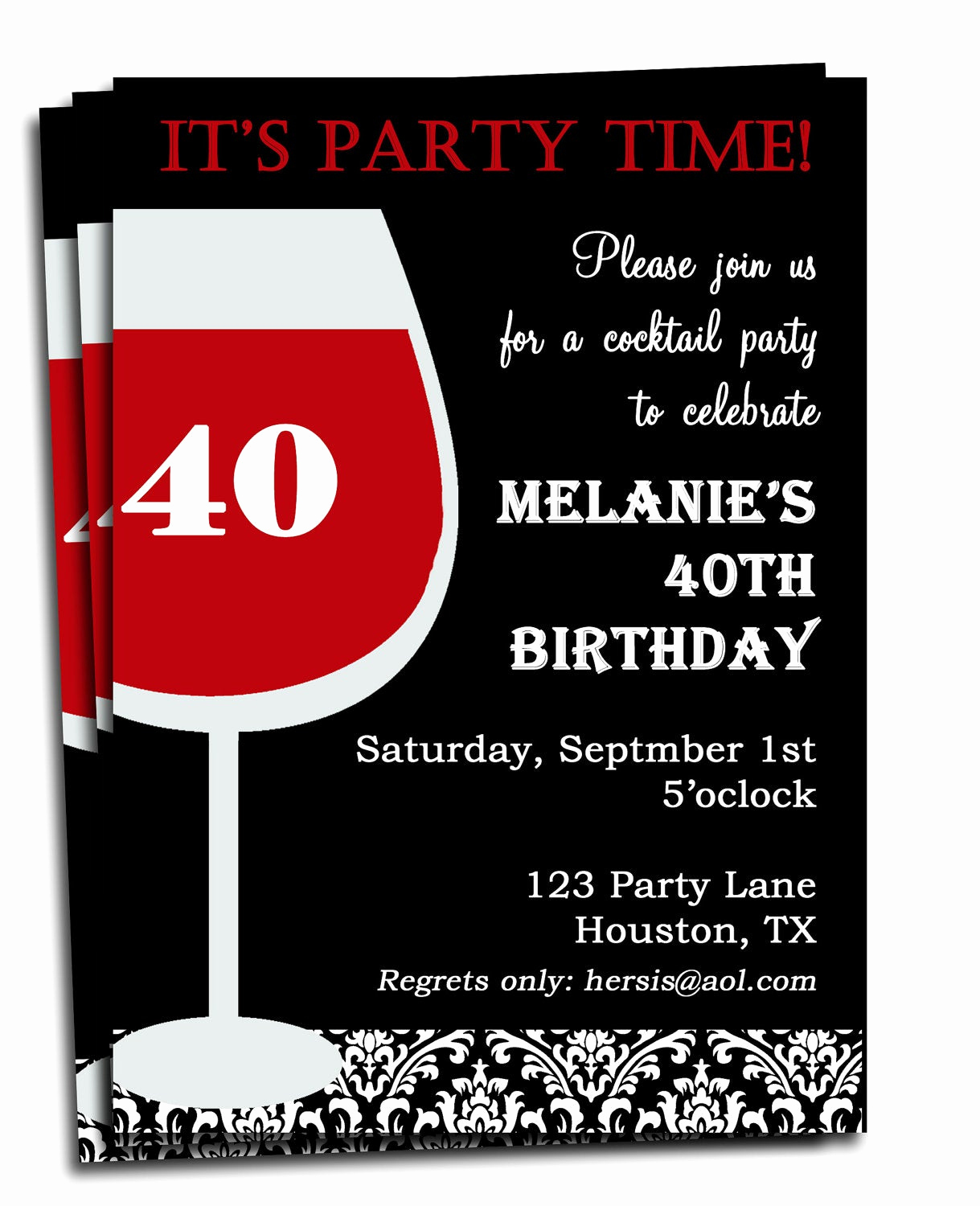 Birthday Invitation Message for Adults New Adult Birthday Invitation Printable Personalized for Your
