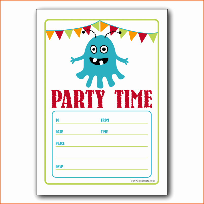 Birthday Invitation Template Word Awesome 7 Party Invitation Template Word Bookletemplate