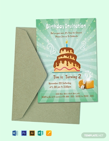 Birthday Invitation Template Word Beautiful 124 Free Birthday Invitation Templates Word
