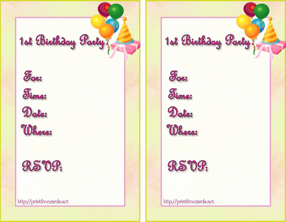 Birthday Invitation Template Word Best Of Birthday Invitation Templates Birthday Invitation