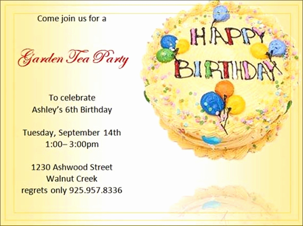 Birthday Invitation Template Word Lovely Free 63 Printable Birthday Invitation Templates In Pdf
