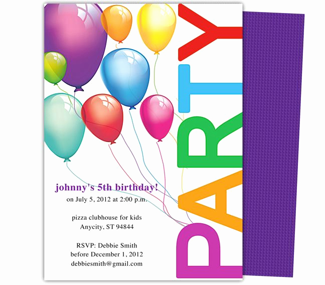 Birthday Invitation Template Word New 23 Best Images About Kids Birthday Party Invitation