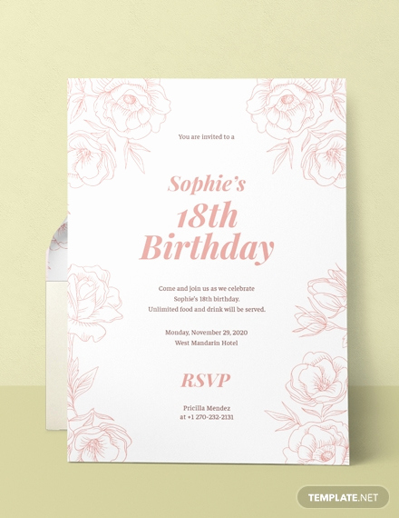 Birthday Invitation Template Word Unique Free 18th Birthday Invitation Template Download 508