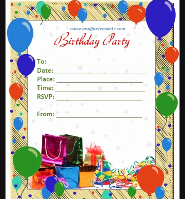 Birthday Invitation Template Word Unique Free 63 Printable Birthday Invitation Templates In Pdf