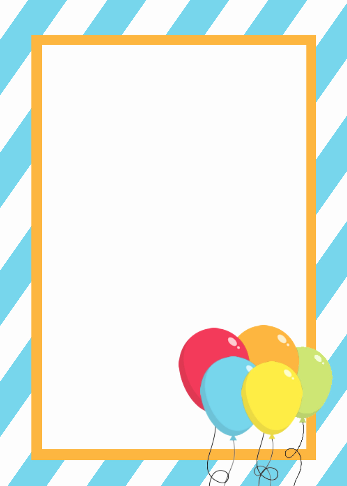 Birthday Invitation Template Word Unique Free Printable Birthday Invitation Templates