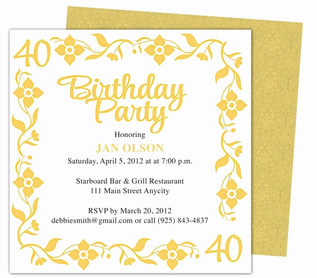 Birthday Invitation Templates Word Beautiful Invitation Template Word