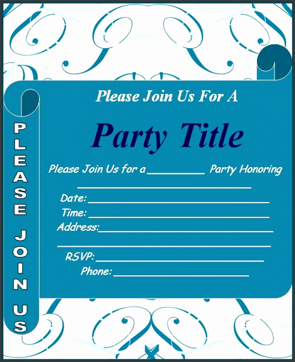 Birthday Invitation Templates Word Best Of 10 Ms Word Birthday Party Invitation Template