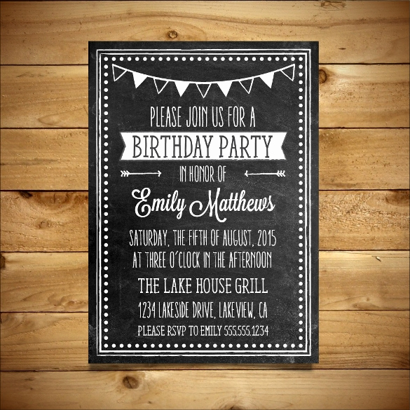 Birthday Invitation Templates Word Lovely 18 Ms Word format Birthday Templates Free Download