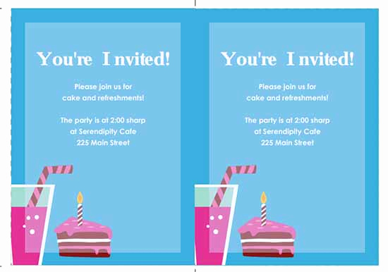 Birthday Invitation Templates Word Lovely 6 Free Party Invitation Templates Excel Pdf formats