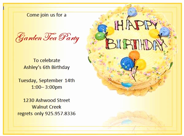 Birthday Invitation Templates Word Lovely Birthday Party Invitations Microsoft Word Templates