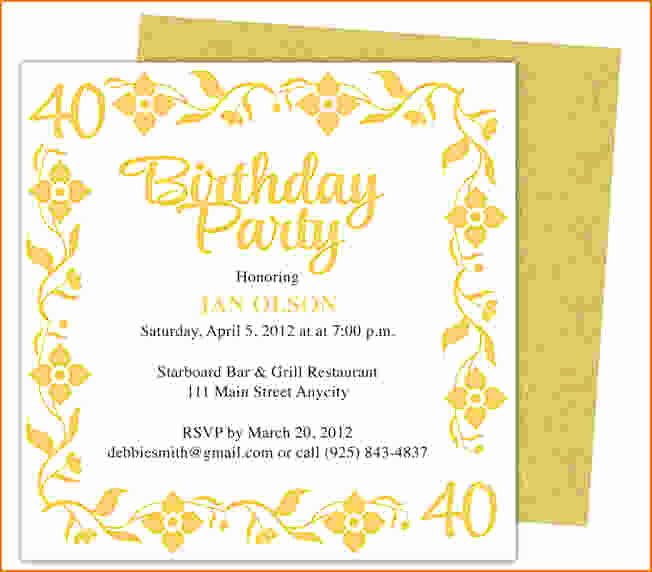 Birthday Invitation Templates Word Unique 6 Birthday Party Invitation Template Word