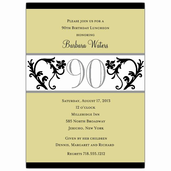 Birthday Invitation Wording for Adults Best Of 90th Birthday Invitation Wording