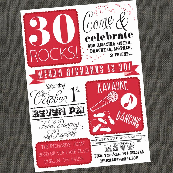 Birthday Invitation Wording for Adults Best Of Items Similar to 30 40 50 Rocks Birthday Party