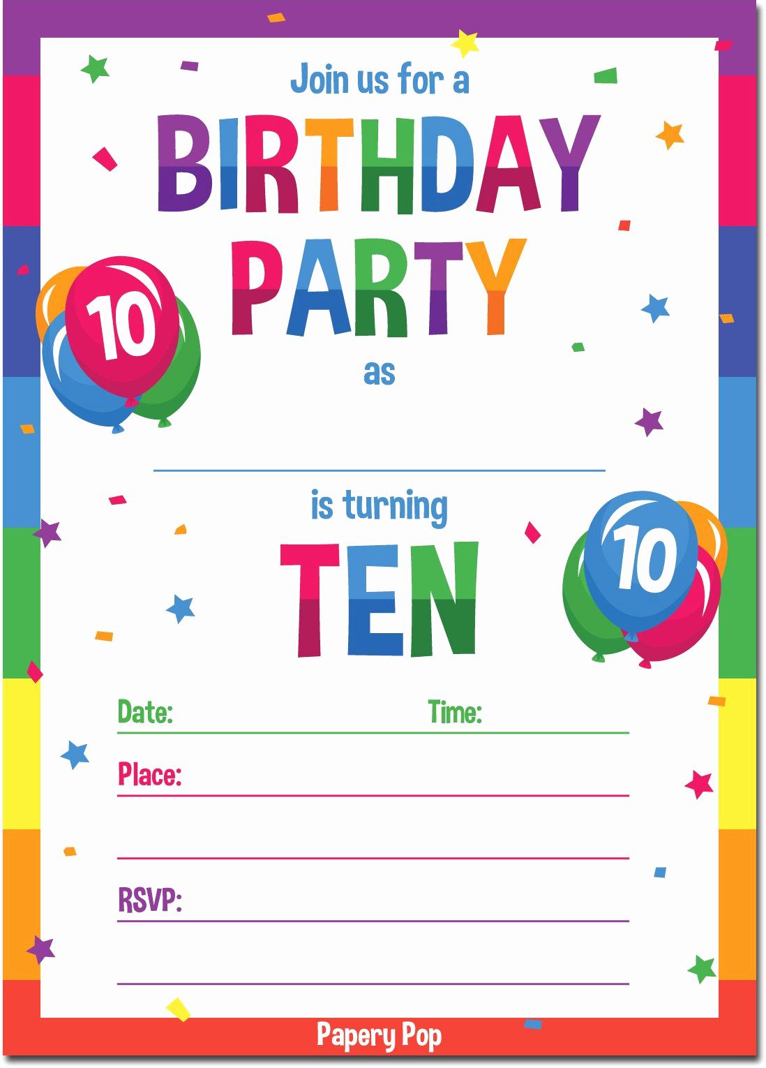 Birthday Invitation Wording for Kids Best Of Amazon Kids Thank You Cards with Envelopes 15 Count