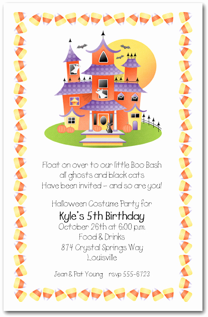Birthday Invitation Wording for Kids Best Of Halloween Invitations for Kids – Festival Collections