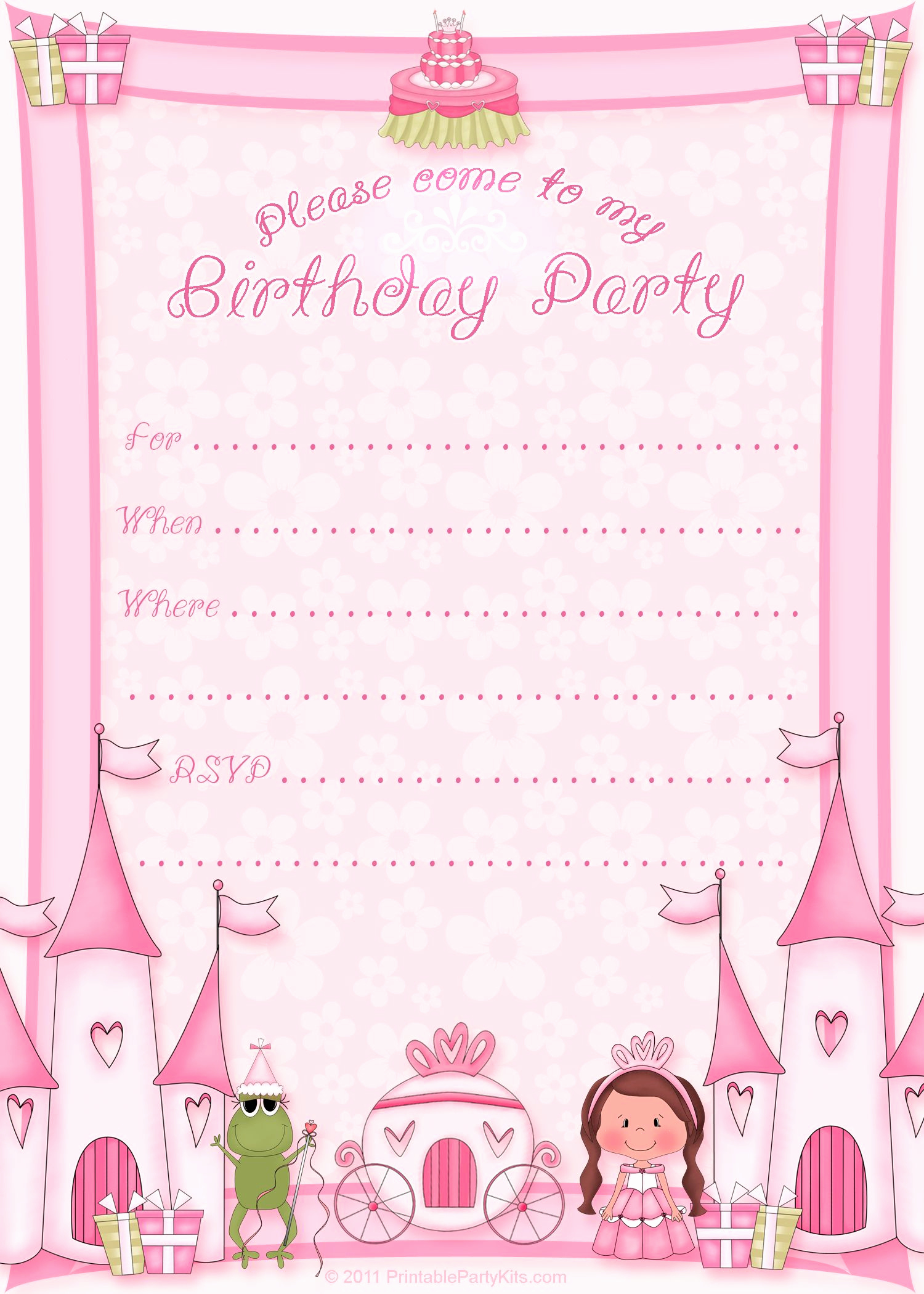 Birthday Party Invitation Template Beautiful Free Printable Invitation Pinned for Kidfolio the