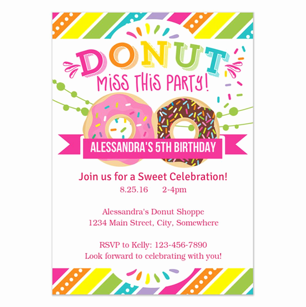 Birthday Party Invitation Template Fresh 18 Birthday Invitations for Kids – Free Sample Templates