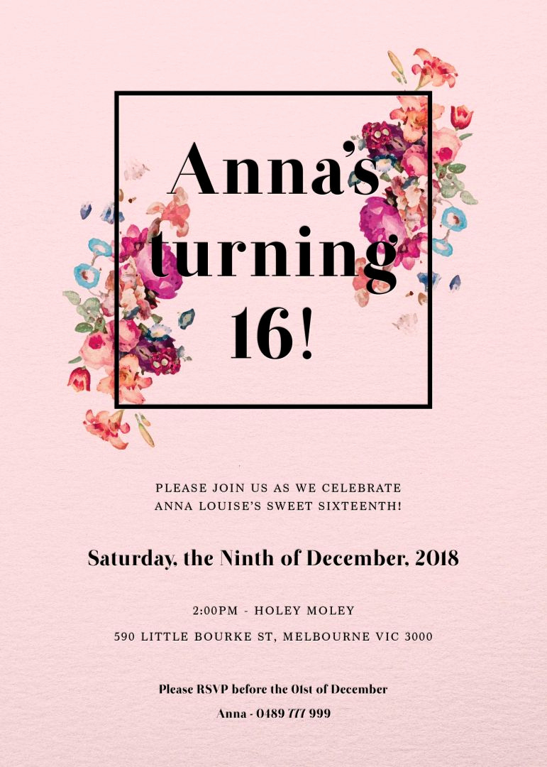 Birthday Party Invitation Template Fresh Our top 10 Birthday Invitation Templates for Teenagers