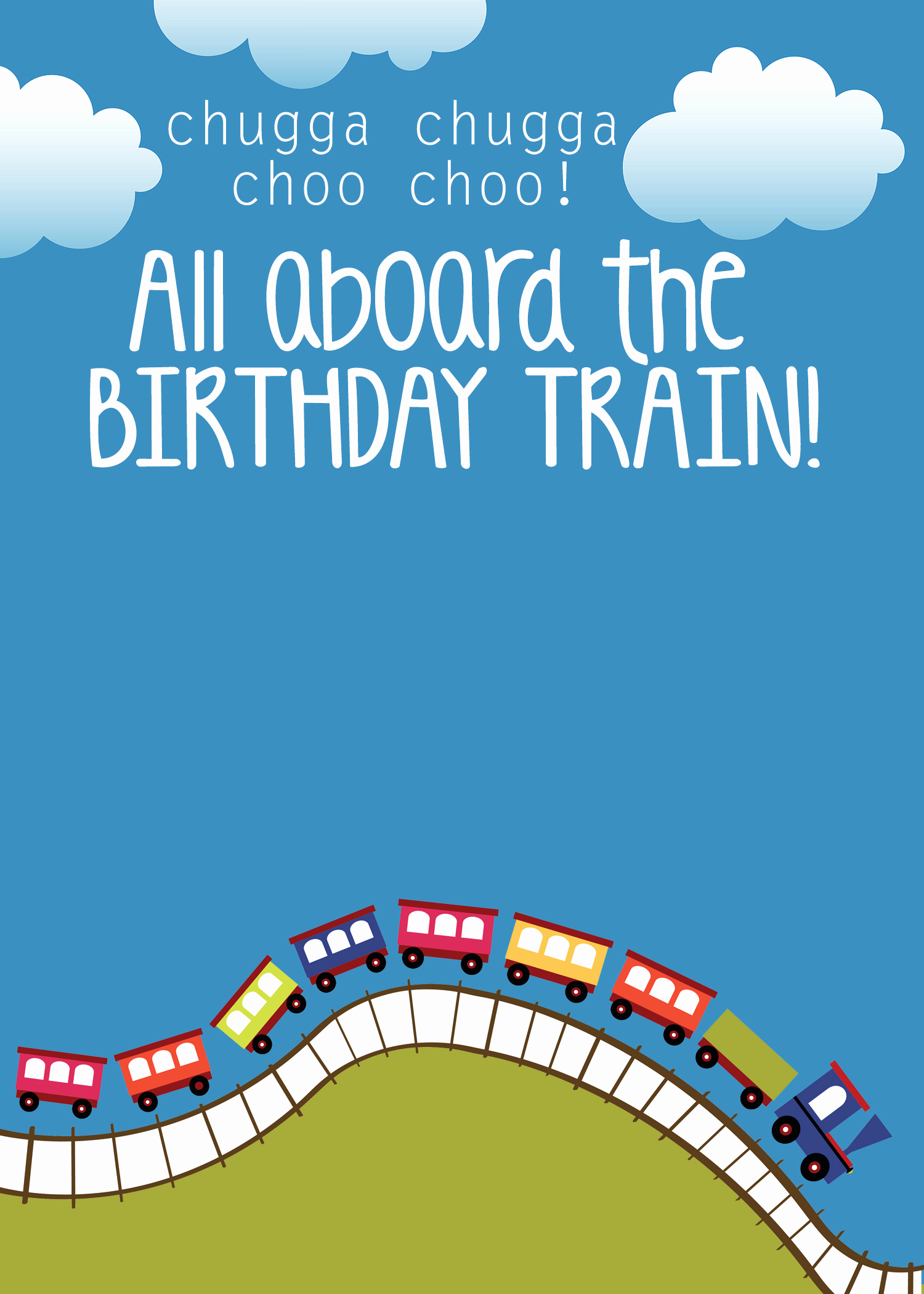 Birthday Party Invitation Template Fresh Train Birthday Party with Free Printables How to Nest