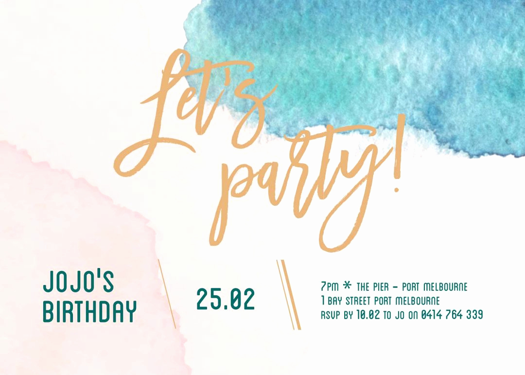 Birthday Party Invitation Template Inspirational Our top 10 Birthday Invitation Templates for Teenagers