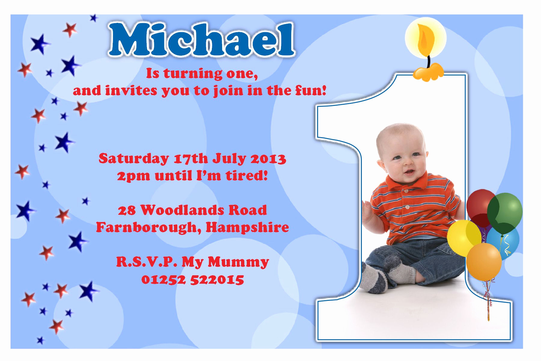 Birthday Party Invitation Template Lovely First Birthday Party Invitation Ideas – Bagvania Free