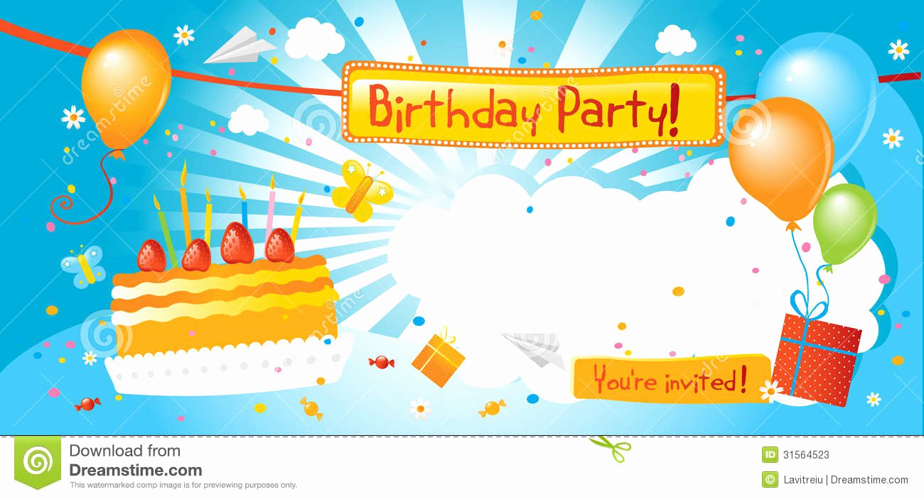Birthday Party Invitation Template New Boy Birthday Party Invitation