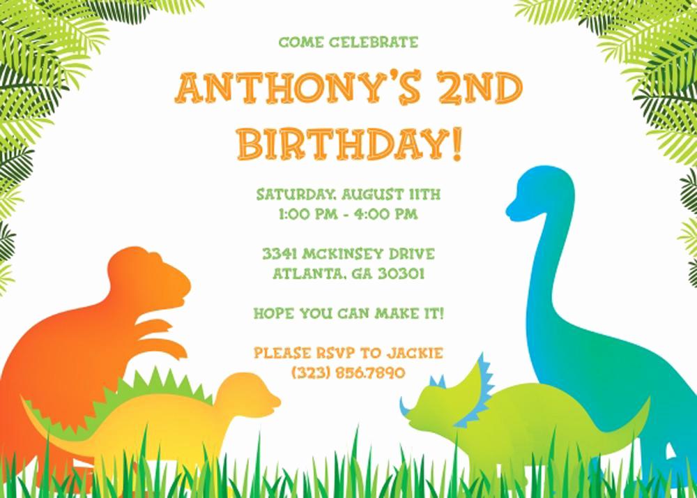 Birthday Party Invitation Template Unique 17 Dinosaur Birthday Invitations How to Sample Templates