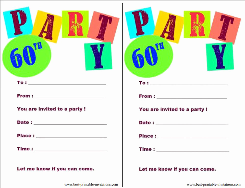 Birthday Party Invitation Templates Best Of 20 Ideas 60th Birthday Party Invitations Card Templates