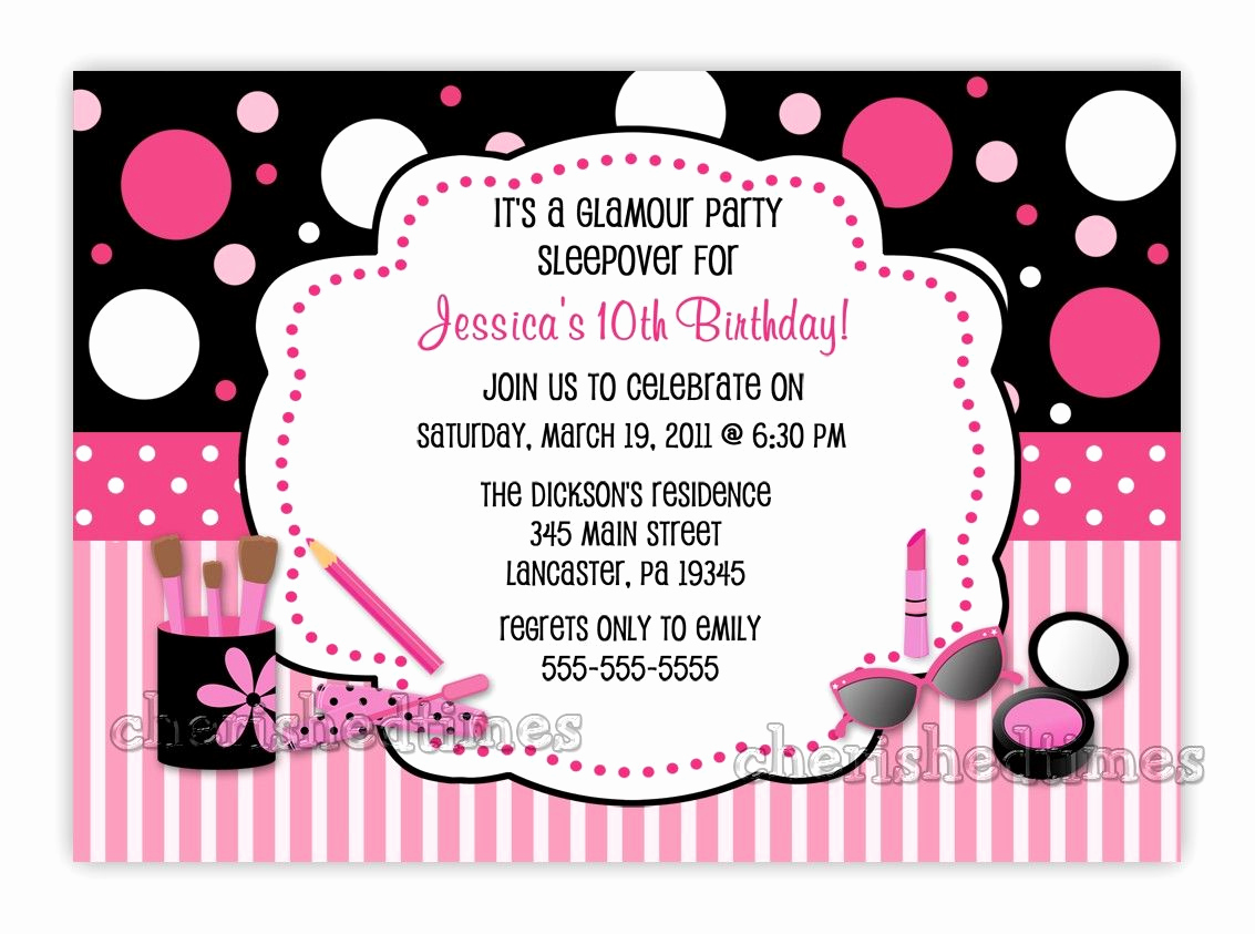 Birthday Party Invitation Templates Best Of Download now Free Template 10 Year Old Birthday