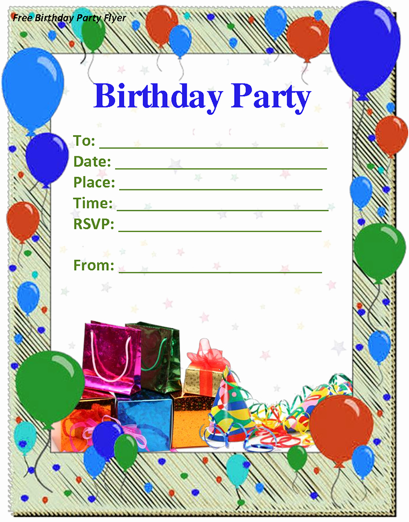 Birthday Party Invitation Templates Elegant Birthday Invitation Template Free Download