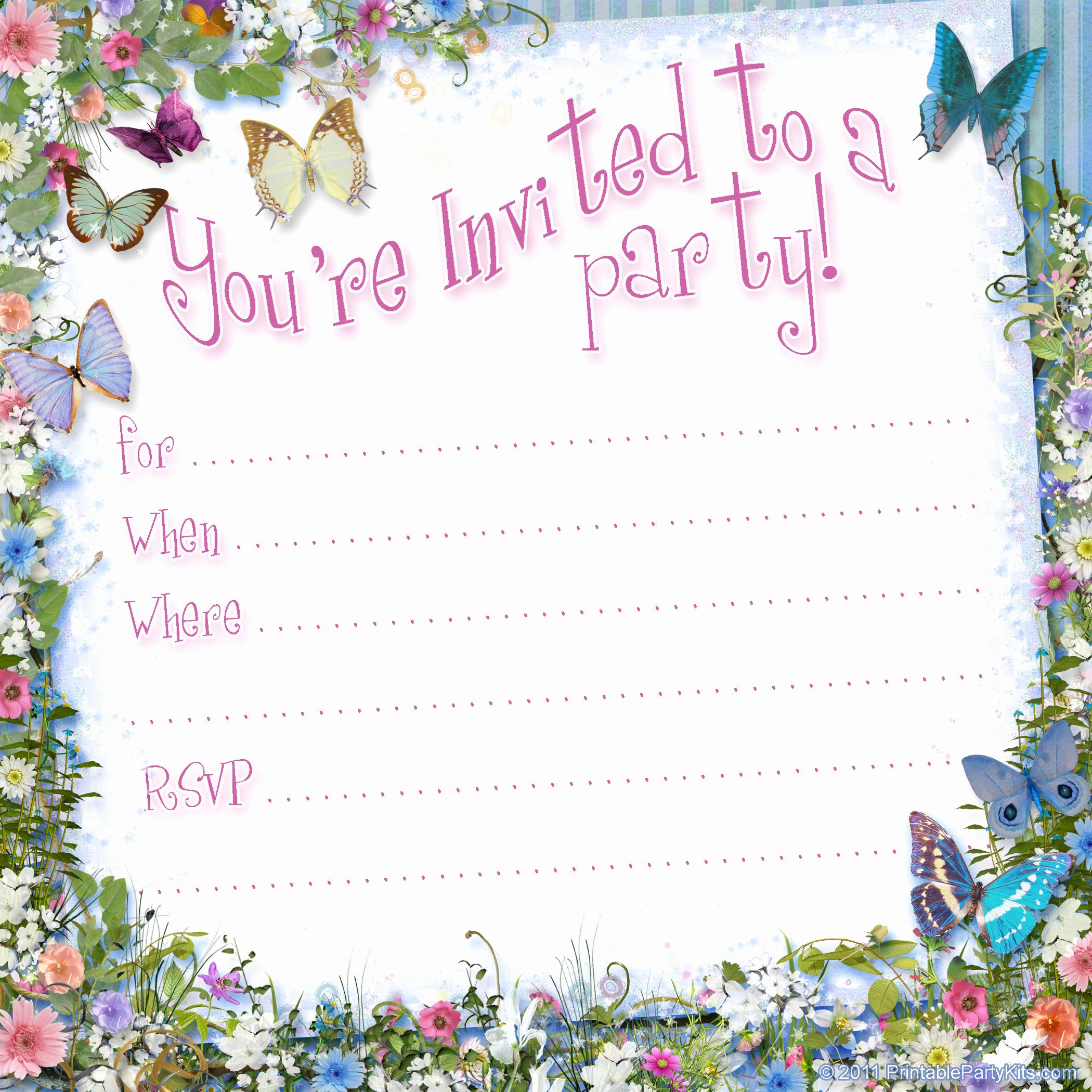 Birthday Party Invitation Templates Elegant Free Printable Girls Birthday Invitations – Free Printable