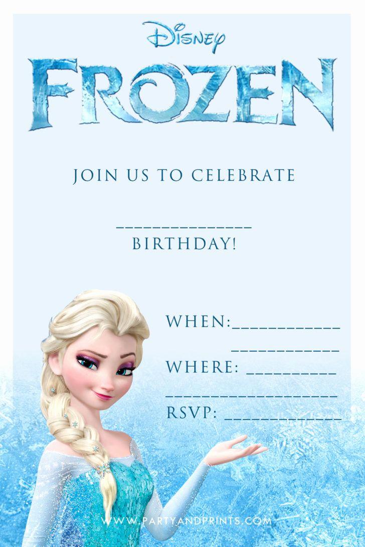 Birthday Party Invitation Templates Inspirational Birthday Disney Frozen Blank Birthday Party Invitation