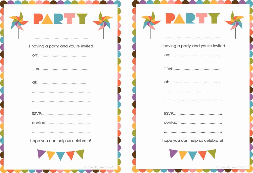 Birthday Party Invitation Templates Lovely Free Printable Birthday Card Invitations — Birthday