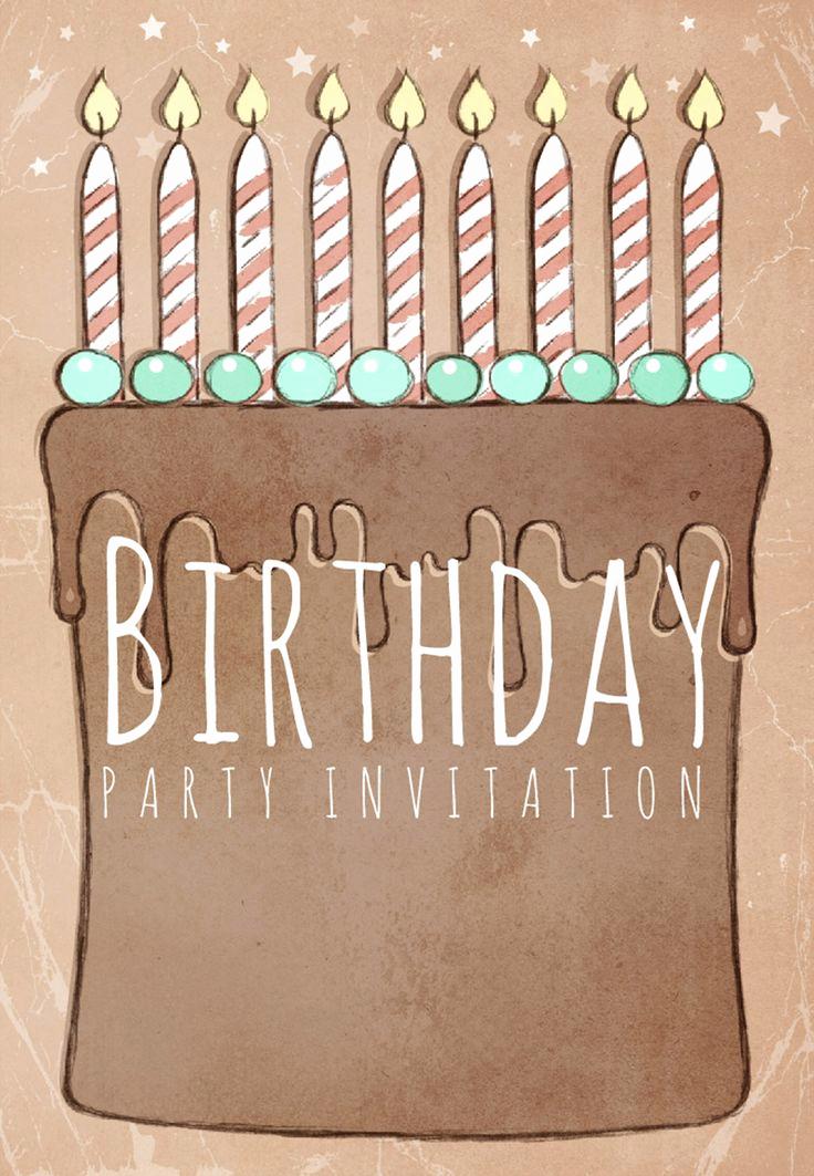 Birthday Party Invitation Templates Unique Birthday Party Invitation Free Printable Birthday Cake