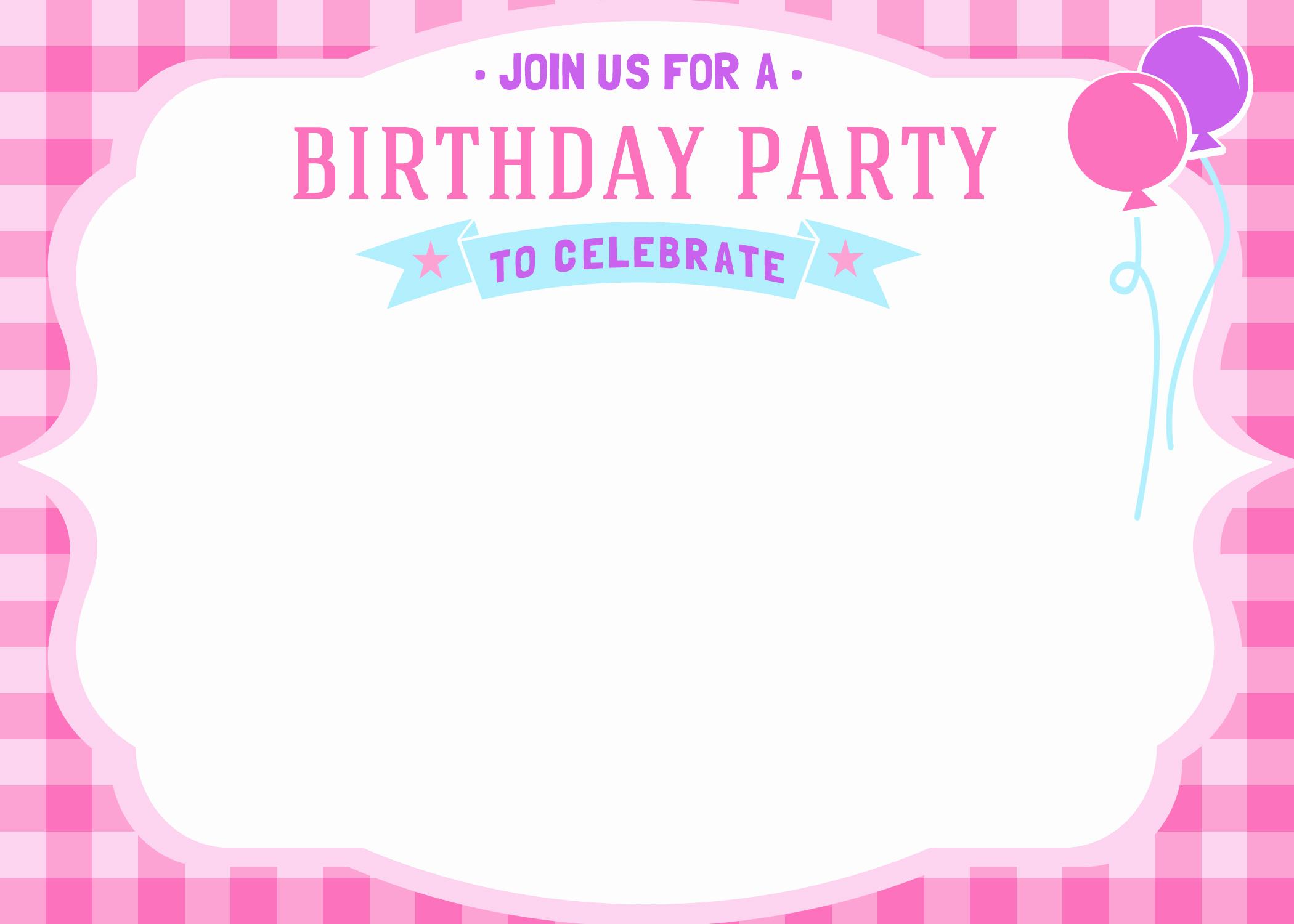 Birthday Party Invitation Templates Unique Free Printable Girls Birthday Invitations – Free Printable