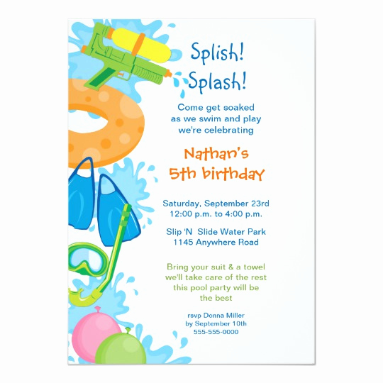 Birthday Pool Party Invitation Wording Beautiful Pool Party Birthday Invitation