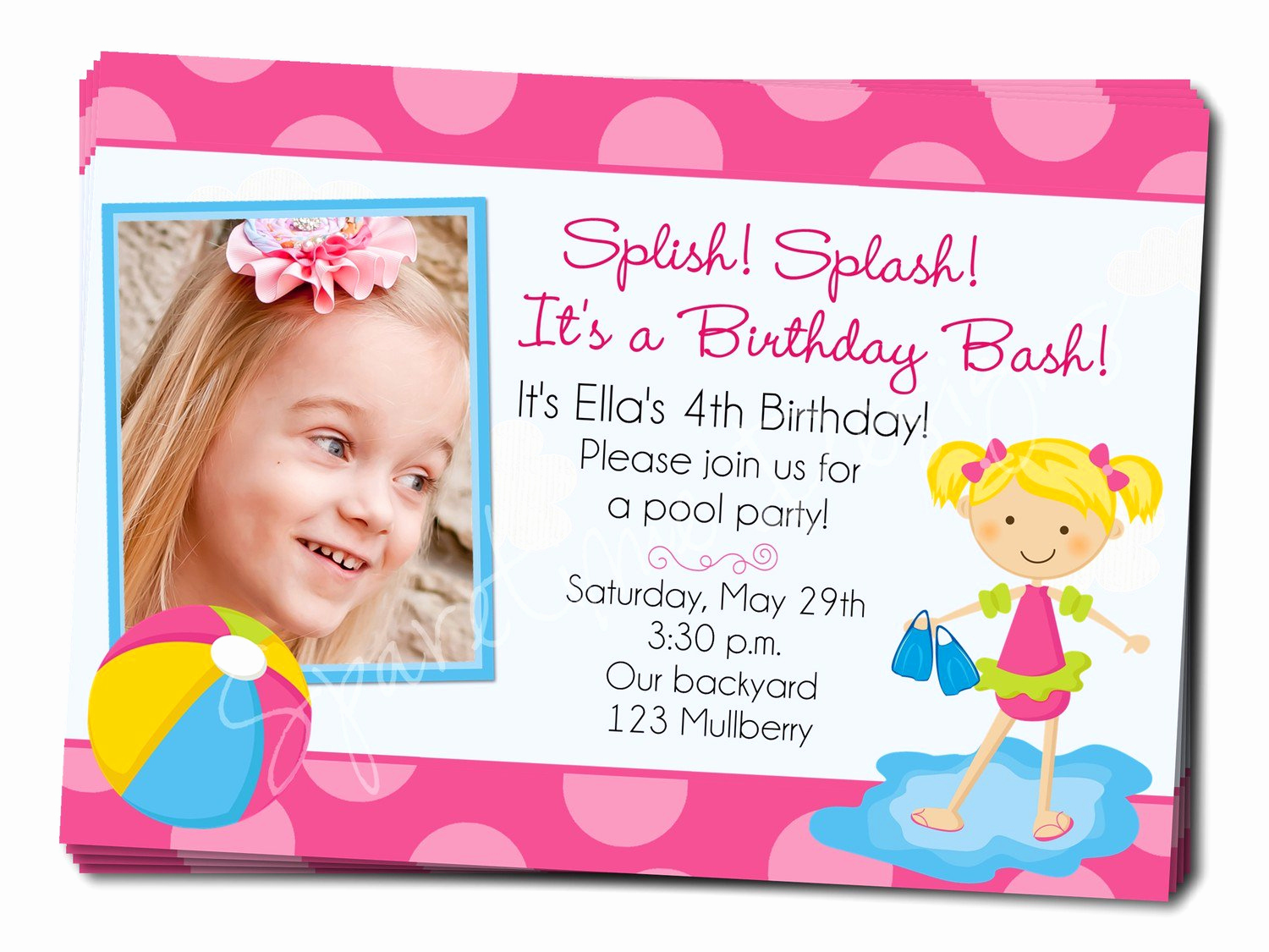 Birthday Pool Party Invitation Wording Elegant Birthday Pool Party Invitation Wording