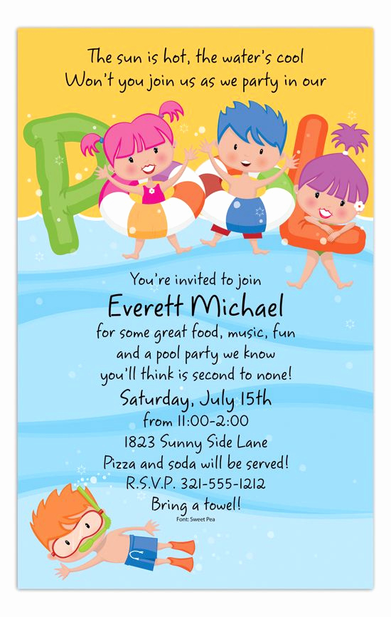 Birthday Pool Party Invitation Wording Lovely 71 Best Pool Party Invitations Images On Pinterest