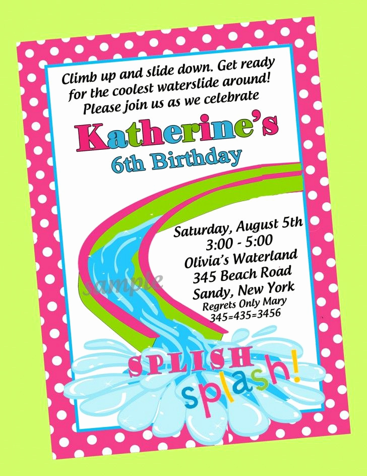 Birthday Pool Party Invitation Wording Lovely Stylish 6th Pool themed Birthday Party Invitation Wording
