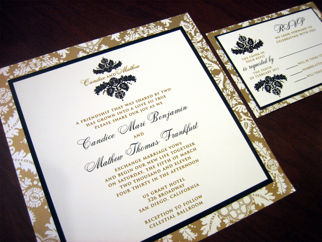 Black and Gold Invitation Beautiful Gold Wedding Invitation – A Vibrant Wedding